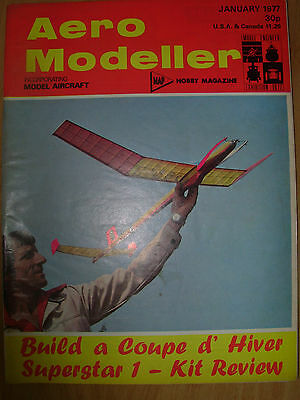 Aero Modeller Magazine January 1977 Coupe D'hiver Swallow Plans