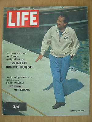 VINTAGE LIFE MAGAZINE MARCH 3rd 1969 OIL FIELDS IN THE ARCTIC