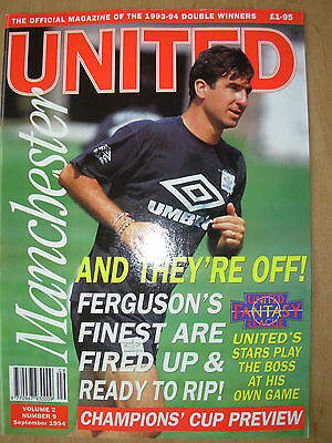 MANCHESTER UNITED OFFICIAL MAGAZINE VOL 2 No 9 SEPTEMBER 1994