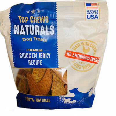 Top Chews Chicken Jerky For Dogs ~ USA Made 100% Natural Dog Treats 48 oz (3 LB)