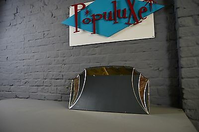 Vintage Retro Art Deco Scalloped Bevelled Hanging Wall Mirror