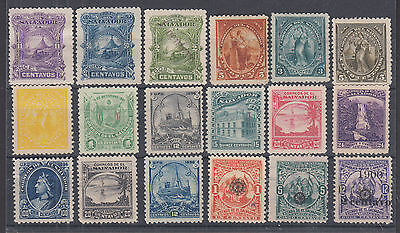 Salvador Sc 52//237 MNG. 1891-1900 issues, 18 diff unused singles, F-VF