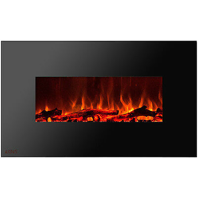 Ignis Royal 50 inch Wall Mount Electric Fireplace with Logs