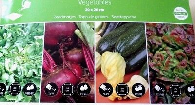 4 VARIETIES 4 MATS FRUIT VEGETABLES SEED MATS QUALITY SEEDS //BUZZY 085576