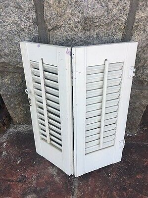 "Interior Wood Plantation Shutters White, 16""x19"" 1 Set Of 2 Pls Read Carefully"