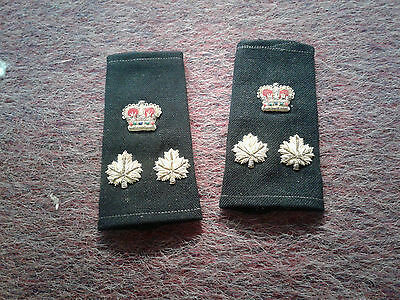 obsolete original  kingston police chief rank insignia gold wire slip ons