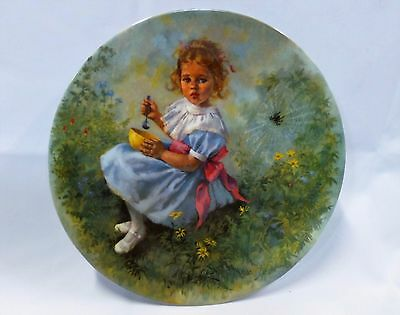 """Little Miss Muffet"" Reco Limited Edition Mother Goose Collector's Plate"