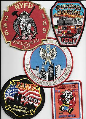 5 New Fire Patches - Set # 655   fire patch