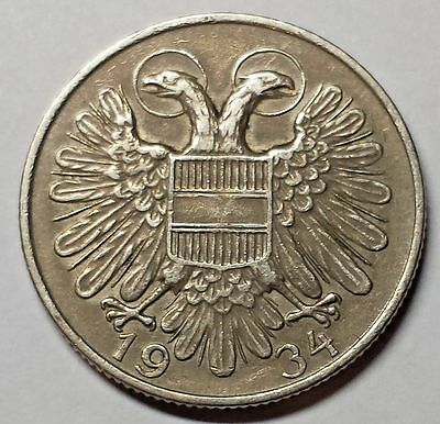 1934 Austria One Schilling Coin You Grade,   WITH FREE SHIPPING