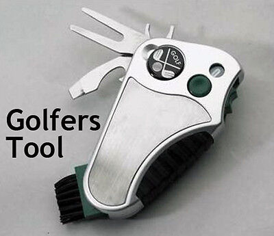 Golfers Best Golf Multi Tool, ball marker, club groove cleaner, stroke counter