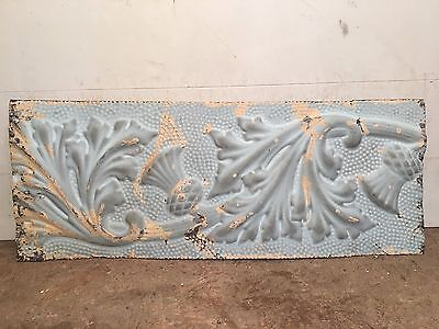 "1 - 30"" x 12"" Antique Ceiling Tin Tile Vintage Reclaimed Salvage Re Purpose Art"