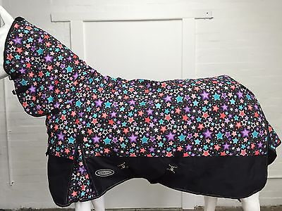 AXIOM 1800D BALLISTIC FANCY STAR/BLACK 300g HORSE COMBO RUG - 5' 6