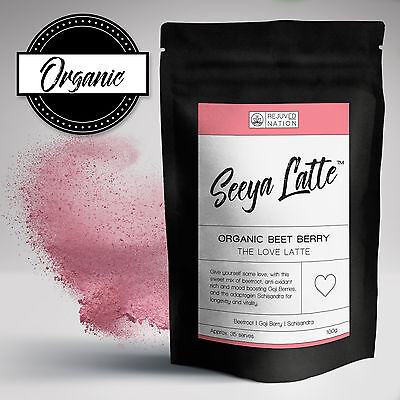 Organic Pink Beet Berry Love Latte: Beetroot / Goji / Schisandra Berry - Tea