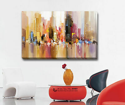 City Landscape Stretched Canvas Print Framed Wall Art Home Office Decor Painting