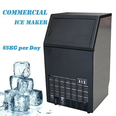 45~60KG/Day Commercial Ice Maker Portable Cube Machine Restaurant Cafe Bar Home