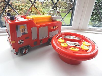 Fireman Sam Remote Controlled Jupiter Fire Engine With Sounds, Tune And Phrases