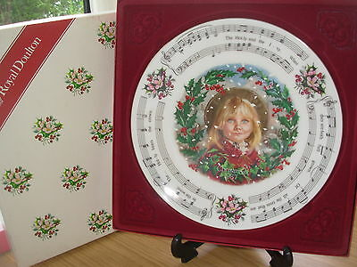 Royal Doulton Christmas Carols Plate 1987 The Holly And The Ivy Boxed Ref 5