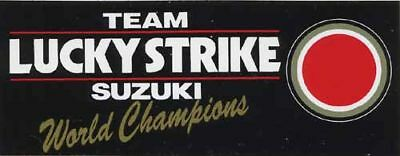 Lucky Strike Suzuki World Champions Black Sticker Logo