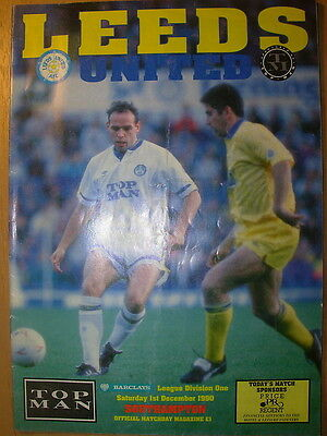 LEEDS UNITED v SOUTHAMPTON 1990-91 DIVISION 1