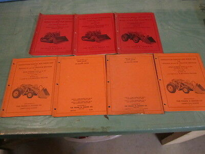 Lot of 7 Antique Frank G Hough Operation & Parts Manuals