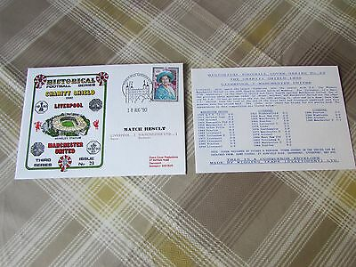 LIVERPOOL v MANCHESTER United 1990 Charity Shield FOOTBALL First Day Cover