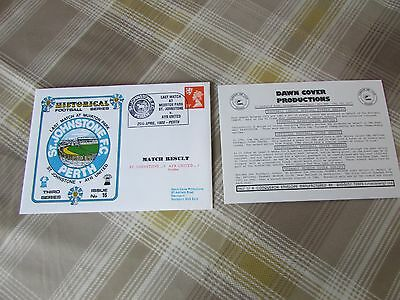 St JOHNSTONE v AYR 1989 Last Game at Muirton Park FOOTBALL First Day Cover