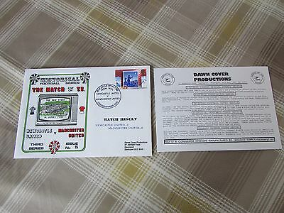 NEWCASTLE United v MANCHESTER Utd 1988 Live TV Match FOOTBALL First Day Cover