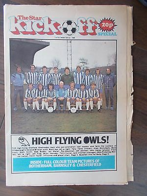 Newspaper Star Kick-Off Special August1980 Sheffield Wednesday & United
