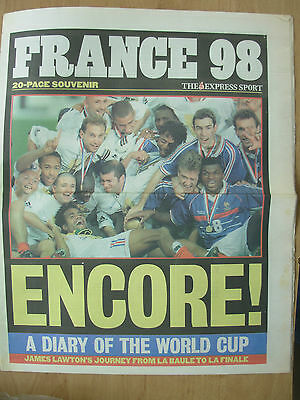 World Cup France 98 - The Express Newspaper - France Win World Cup