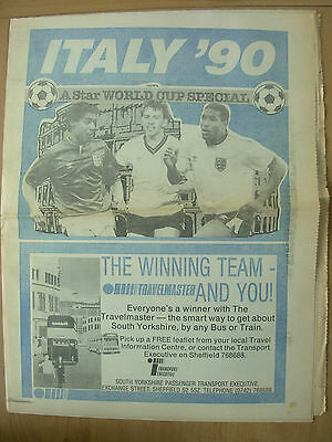 World Cup Italia 90 - Sheffield Star Newspaper - World Cup Special