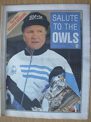 Newspaper Sheffield Wednesday Star Special Salute To The Owls League Cup Winners