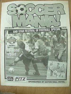 World Cup France 98 - Sheffield Star Newspaper Pull-Out - Soccer Mania
