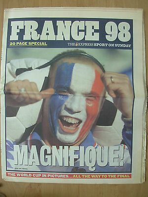 WORLD CUP FRANCE 98 - THE EXPRESS NEWSPAPER - WORLD CUP IN PICTURES JUNE 14th