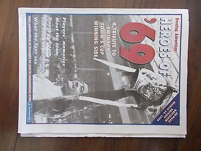 NEWSPAPER EVENING ADVERTISER SPECIAL MARCH 15th 1999 TRIBUTE TO SWINDON TOWN