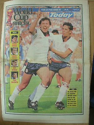 World Cup Italia 90 - Today Newspaper 24 Page Guide - World Cup Special
