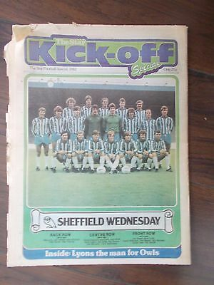 NEWSPAPER STAR KICK-OFF SPECIAL AUGUST 3rd 1982 SHEFFIELD WEDNESDAY & UNITED