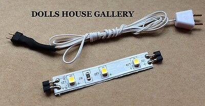 Heidi Ott LED Strip Lighting With Wire & Plug, Dolls House Miniatures, 12Volt