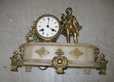 French Figural Mantle Clock (1870-90)