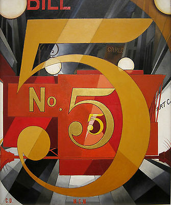 Charles Demuth Reproduction: I Saw the Figure 5 in Gold - Fine Art Print