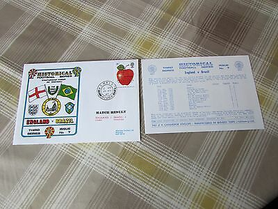 ENGLAND v BRAZIL 1987 Rous Cup International at Wembley FOOTBALL First Day Cover