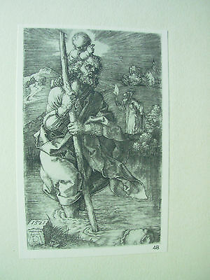 Albrecht Durer Vintage Copper Engraving St Christopher Facing To The Right