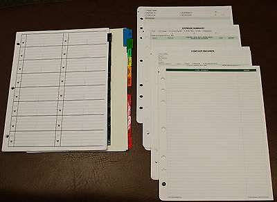 Monarch 7-hole Tabbed Sectional & Address Pages Accessory lot Franklin Planner