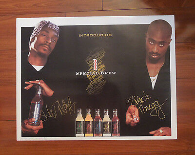 1996 Snoop Dogg Tupac Shakur St. Ides Advertising Poster - Rappers - Free Ship