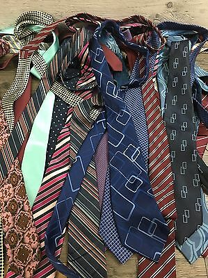 20 x Unbranded Silk & Polyester Ties Job Lot