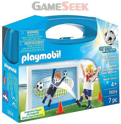 Playmobil Soccer Shootout Carry Case Playset - Toys Brand New Free Delivery