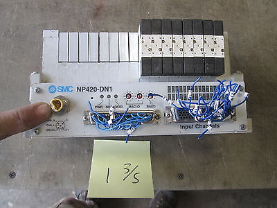 Used SMC NP420-DN1 32-Point Pneumatic Manifold, Damaged Plug MAKE OFFER!!!!!