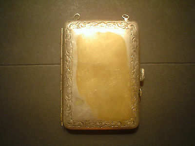 Vintage Antique Silver Compact Change Purse - Coin Holders Sterling ? No Chain