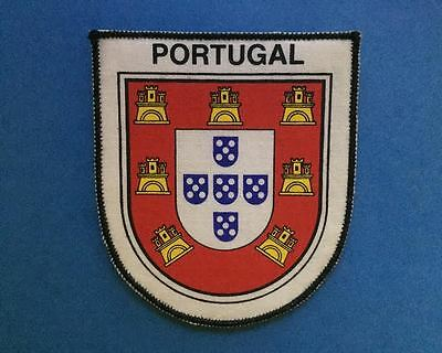 Rare 1970's Vintage Portugal Sew On Hat Jacket Travel Patch Crest A