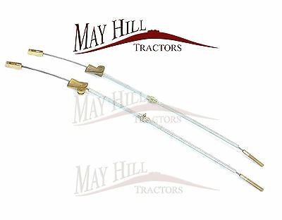 PAIR of Fordson Major Tractor Brake Cable LH & RH