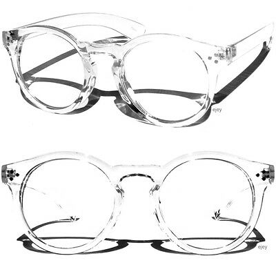 Horn Rim Round Transparent Frame Clear Lens Glasses Large Round Retro Style